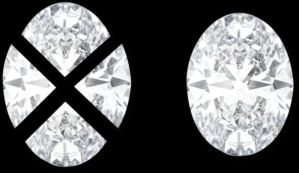 Oval Pie Cut Diamonds Manufacturer in Surat