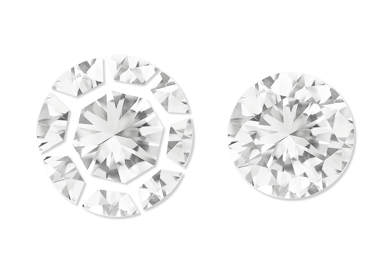 Round Pie Cut Diamonds